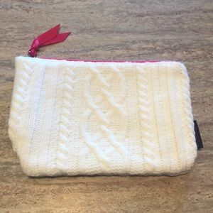 NEW Cable Knit Cosmetic Bag